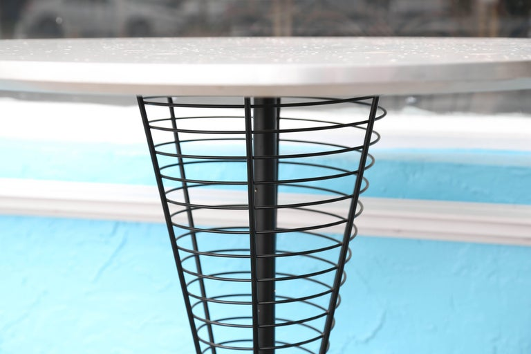 Midcentury Verner Panton Wire Cone Table In Good Condition For Sale In West Palm Beach, FL