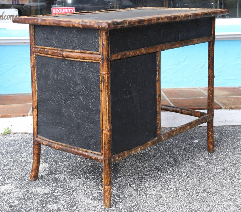 Superb 19th Century English Bamboo Desk In Good Condition For Sale In West Palm Beach, FL