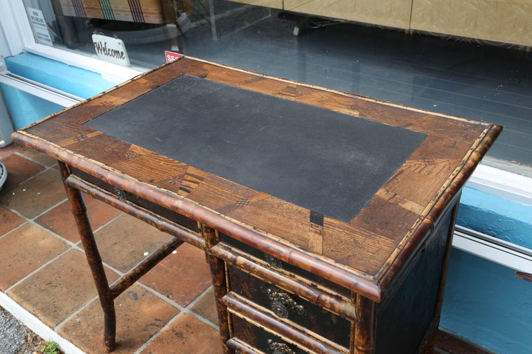 Superb 19th Century English Bamboo Desk For Sale 3