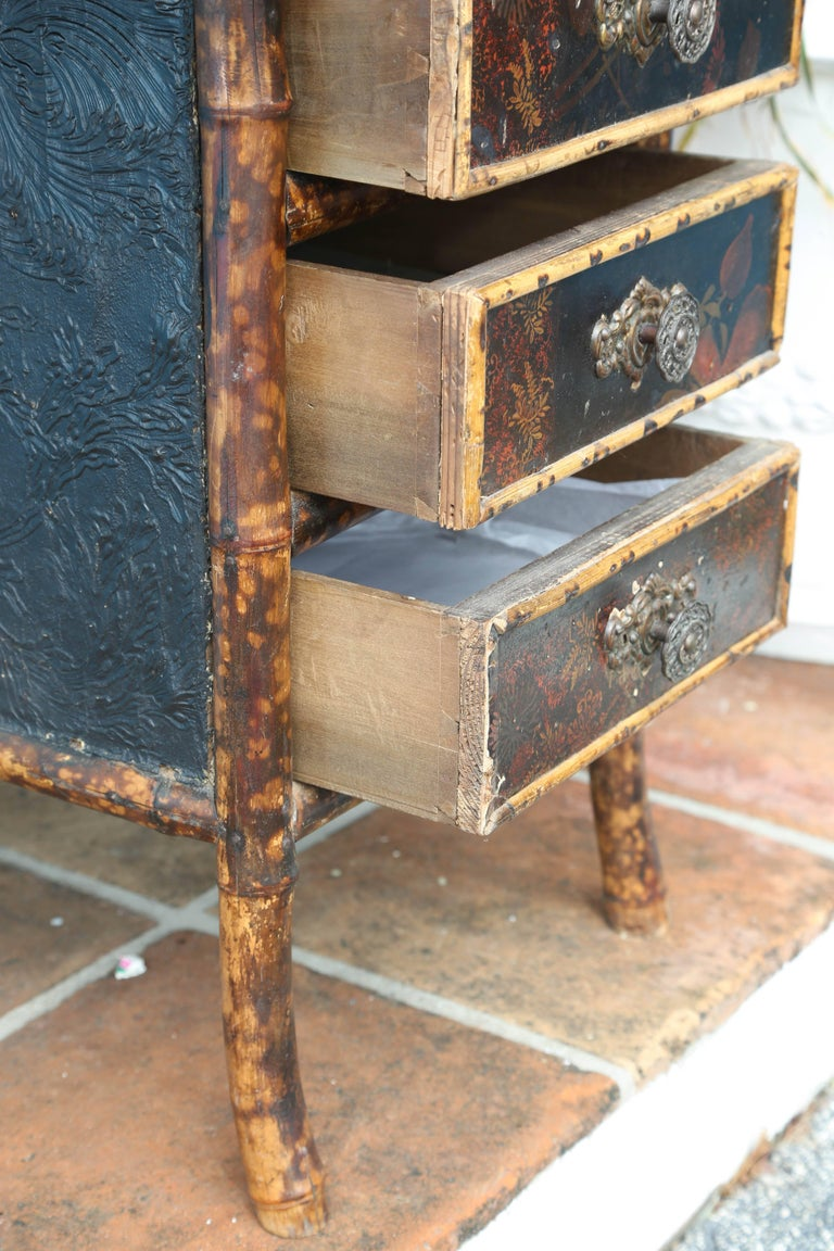 Superb 19th Century English Bamboo Desk For Sale 5