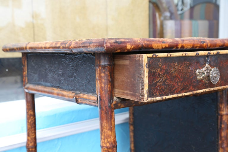 Superb 19th Century English Bamboo Desk For Sale 6