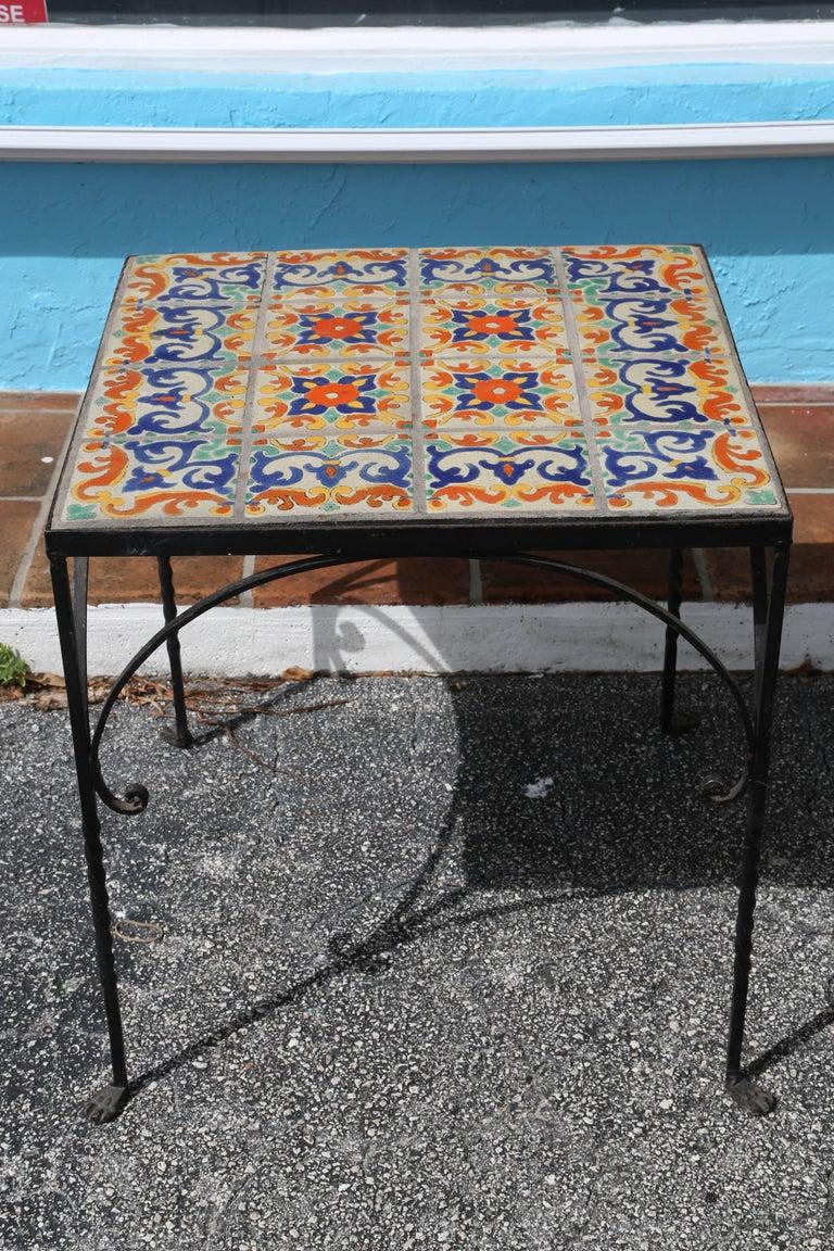 Large Mizner Era Tile Top Table 2