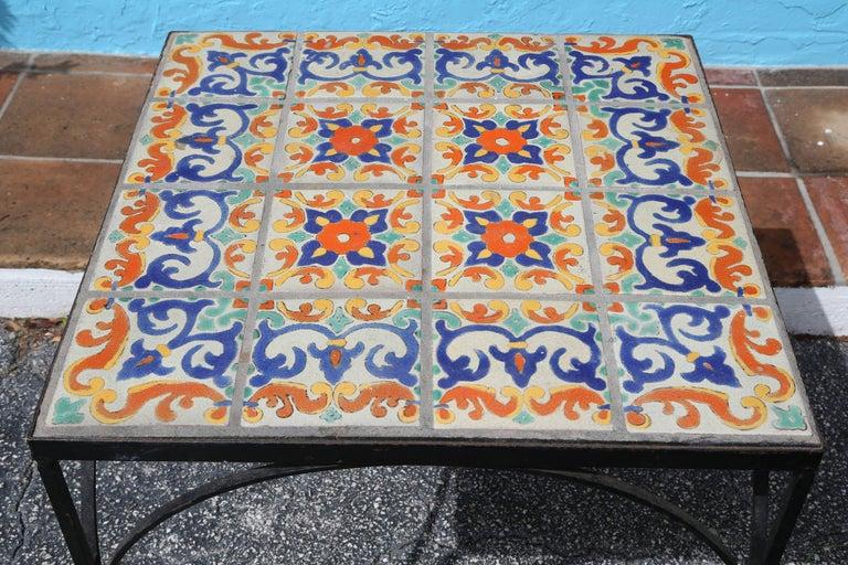 Large Mizner Era Tile Top Table 3