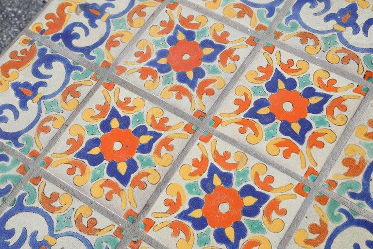 Large Mizner Era Tile Top Table 5