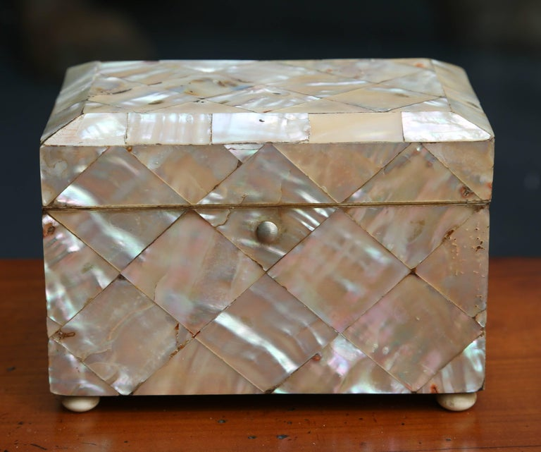 Petite Mother-of-Pearl Tea Caddy 4