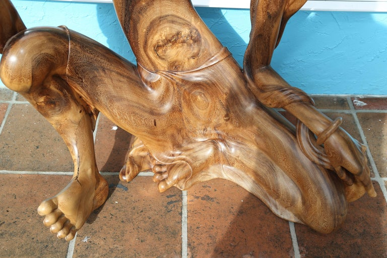 Larger Than Life Midcentury Teak Root Nude For Sale 2