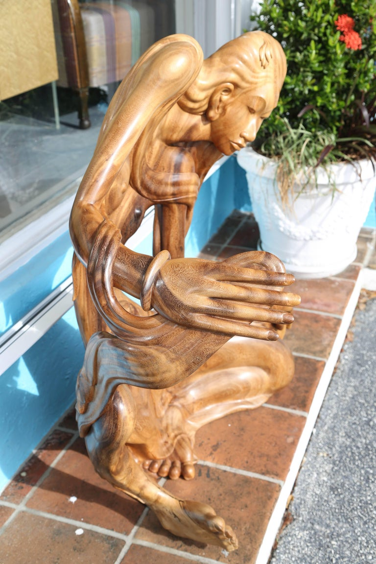 Larger Than Life Midcentury Teak Root Nude For Sale 3
