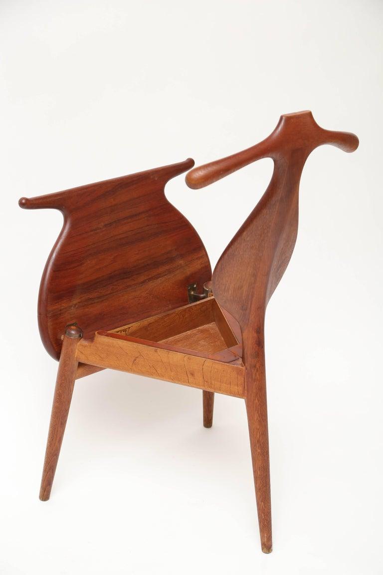 Brass Hans Wegner Valet Chair For Sale