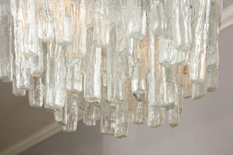 Vintage Kalmar Ice Glass Chandelier 9