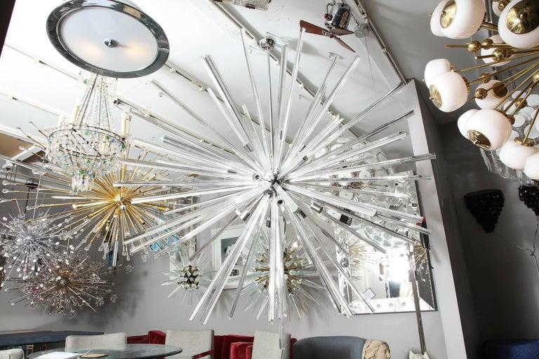 Enormous triadri glass rod Sputnik.