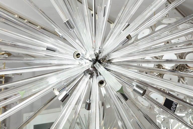 Murano Glass Enormous Triadri Glass Rod Sputnik For Sale