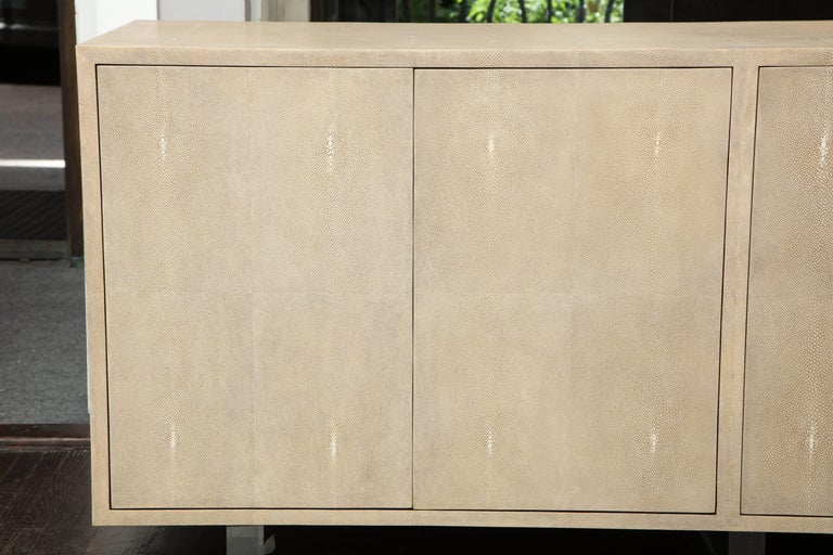 Genuine Shagreen Sideboard Floating on Acrylic Base 2