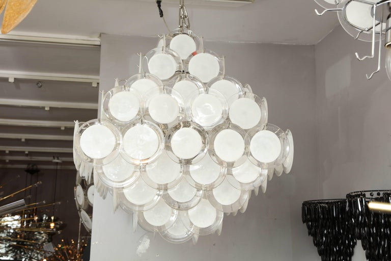 Murano Glass Disc Chandelier 2
