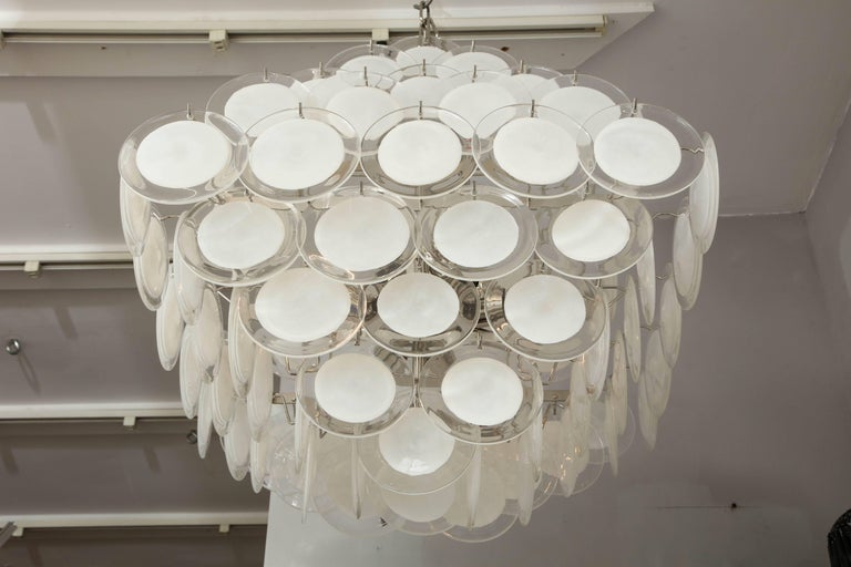 Murano Glass Disc Chandelier For Sale 2