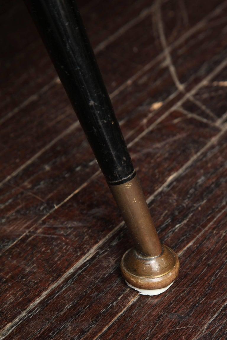 Contemporary Custom Velvet Settee with Brass Legs For Sale