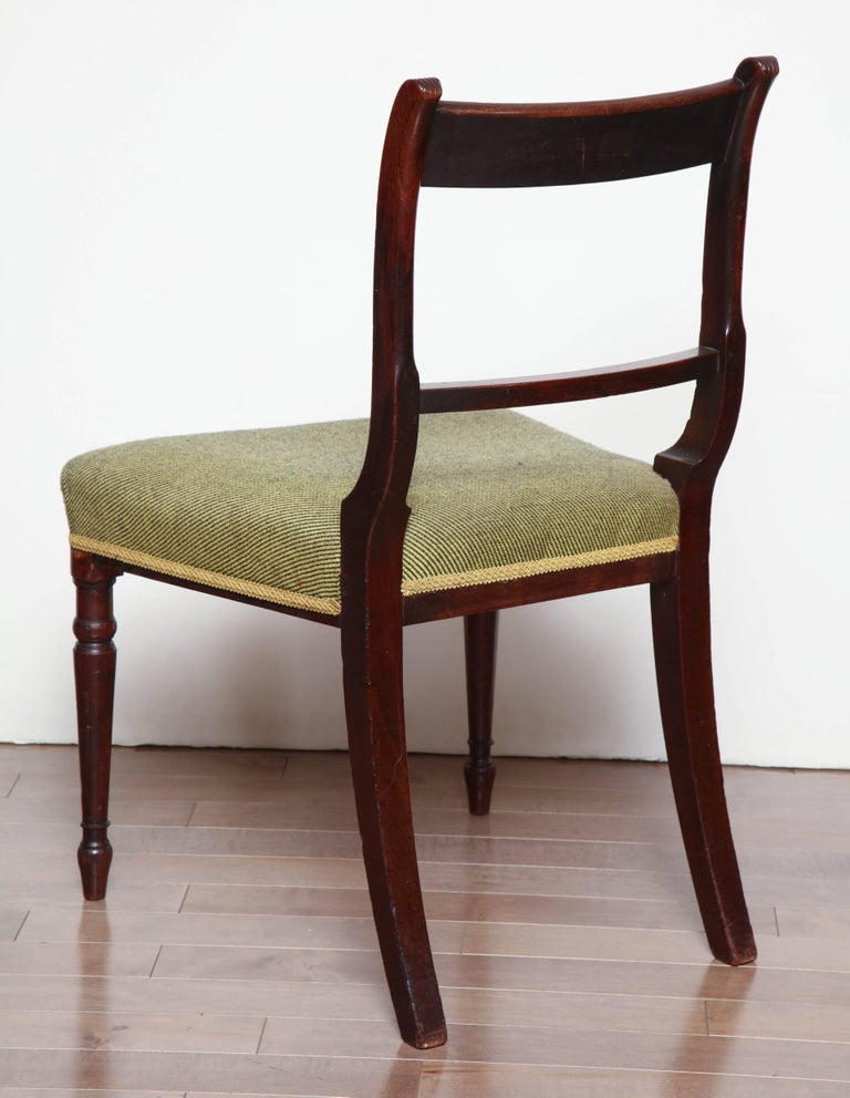 Early 19th Century Pair of Irish, Neoclassical Mahogany Side Chairs, circa 1810-1820 For Sale