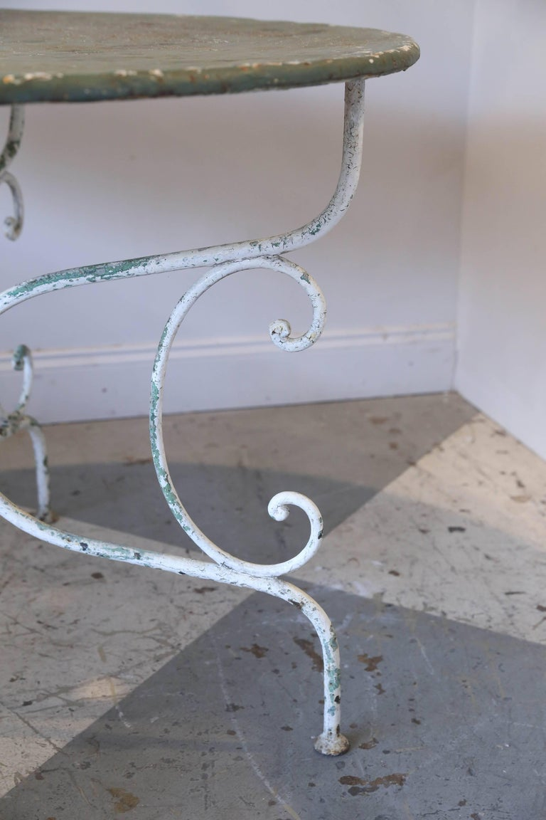 1930s rustic metal garden table found in france for sale for Found furniture