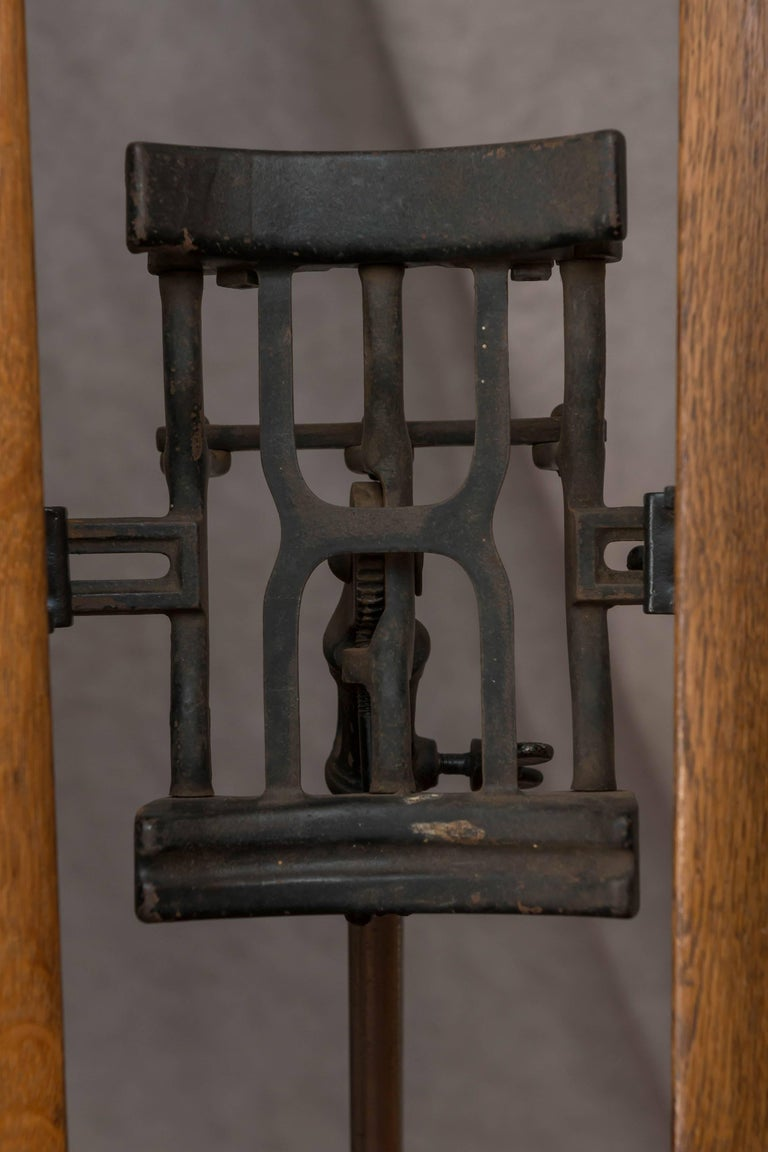 Oak And Cast Iron Dictionary Stand For Sale At 1stdibs