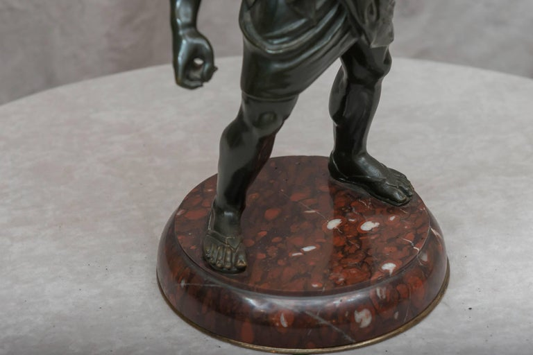 This joyful bronze is one of the most famous of the classical figures. He was the god of wine, no wonder he is joyful. I have had several examples of this statue, and without a doubt this is the best quality of the others. I am always asked