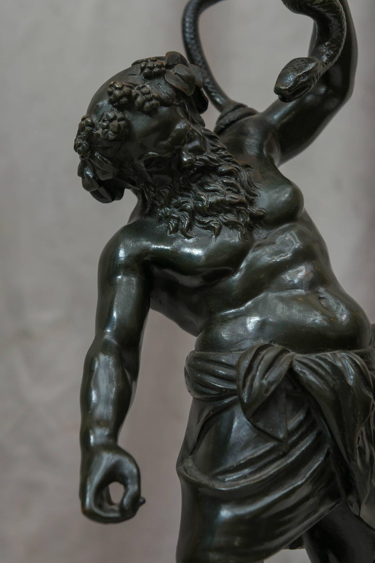 Classical Roman Bronze Figure of Drunken Silenius, Souvenir of the Grand Tour For Sale