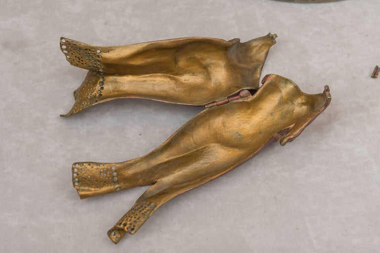 Austrian Naughty, Movable Bronze of a Maiden with Removable Dress For Sale 1