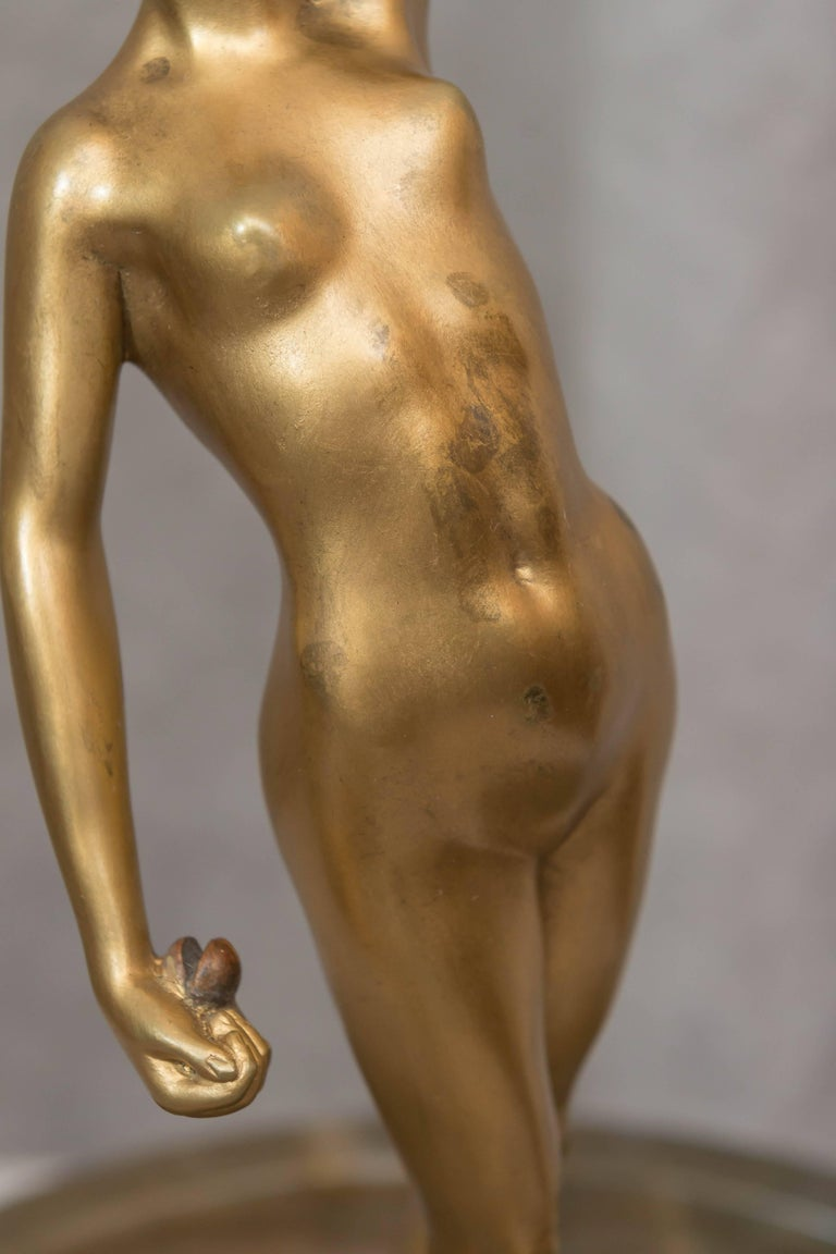 Austrian Naughty, Movable Bronze of a Maiden with Removable Dress For Sale 2