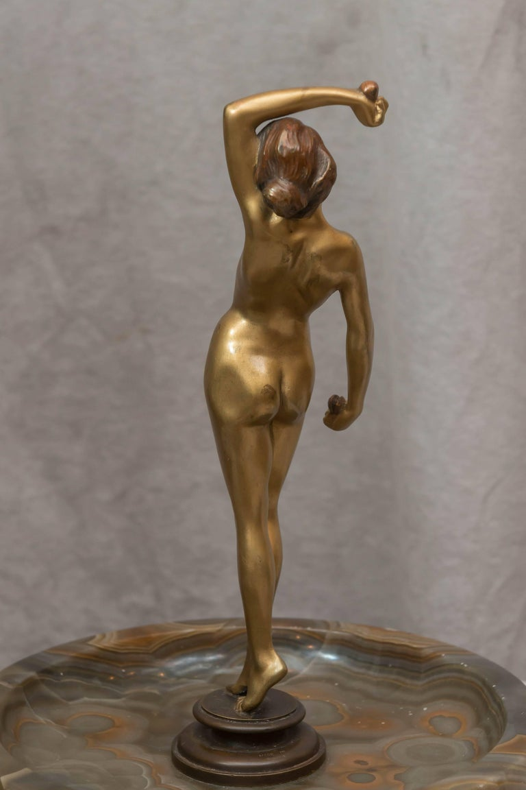 Austrian Naughty, Movable Bronze of a Maiden with Removable Dress For Sale 4