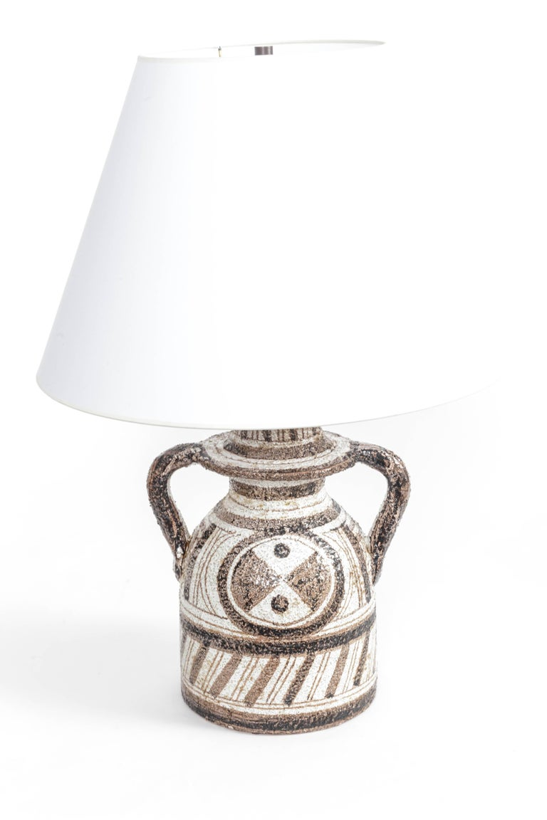 Graphic Textured Rosenthal Netter Table Lamp In Excellent Condition For Sale In East Hampton, NY
