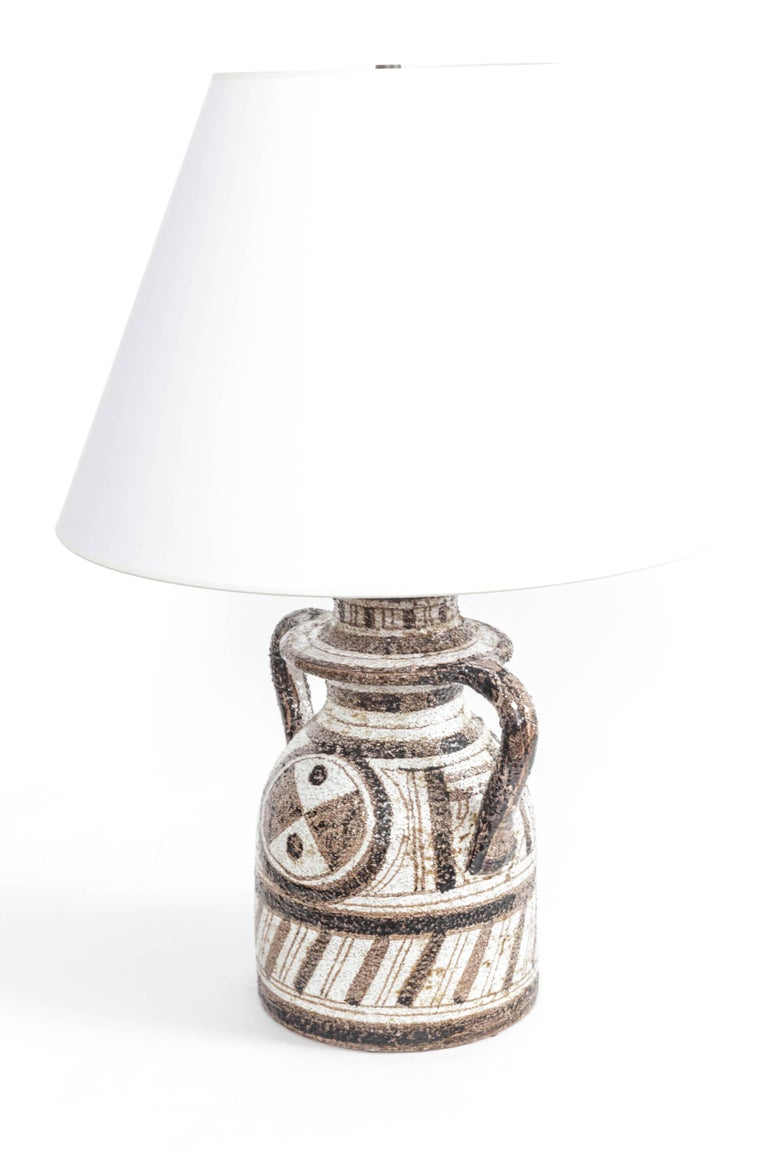 Graphic Textured Rosenthal Netter Table Lamp For Sale 2