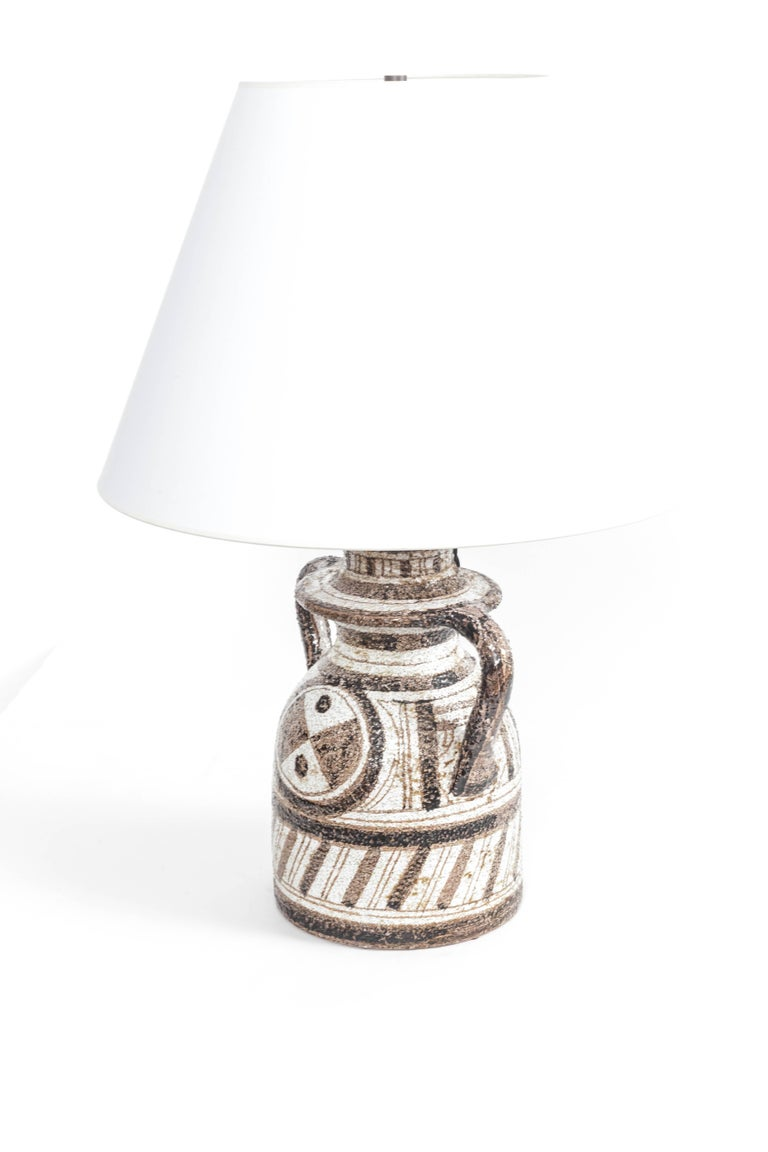 Graphic Textured Rosenthal Netter Table Lamp For Sale 3