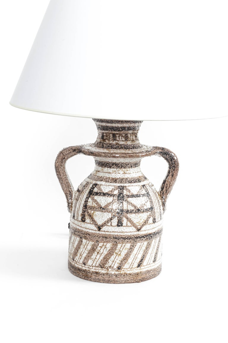 Italian Graphic Textured Rosenthal Netter Table Lamp For Sale