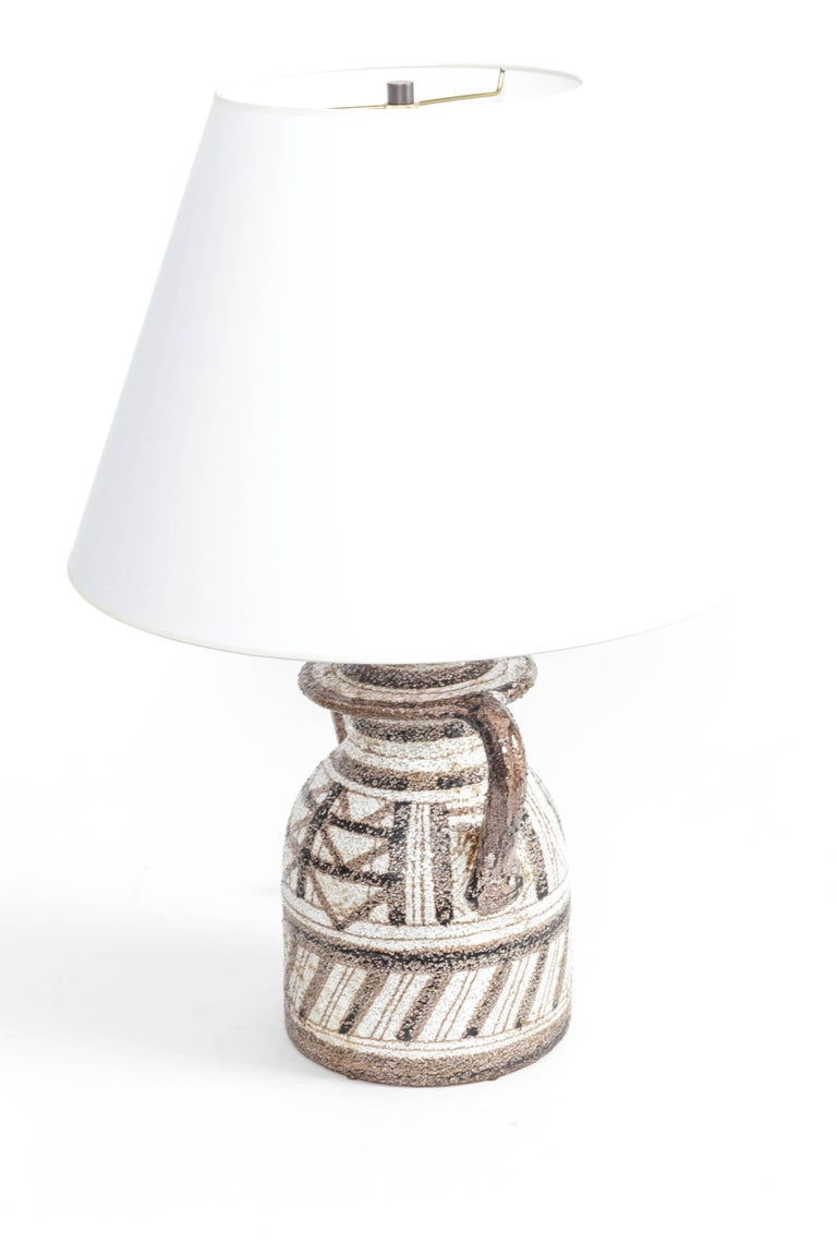 Graphic Textured Rosenthal Netter Table Lamp For Sale 1