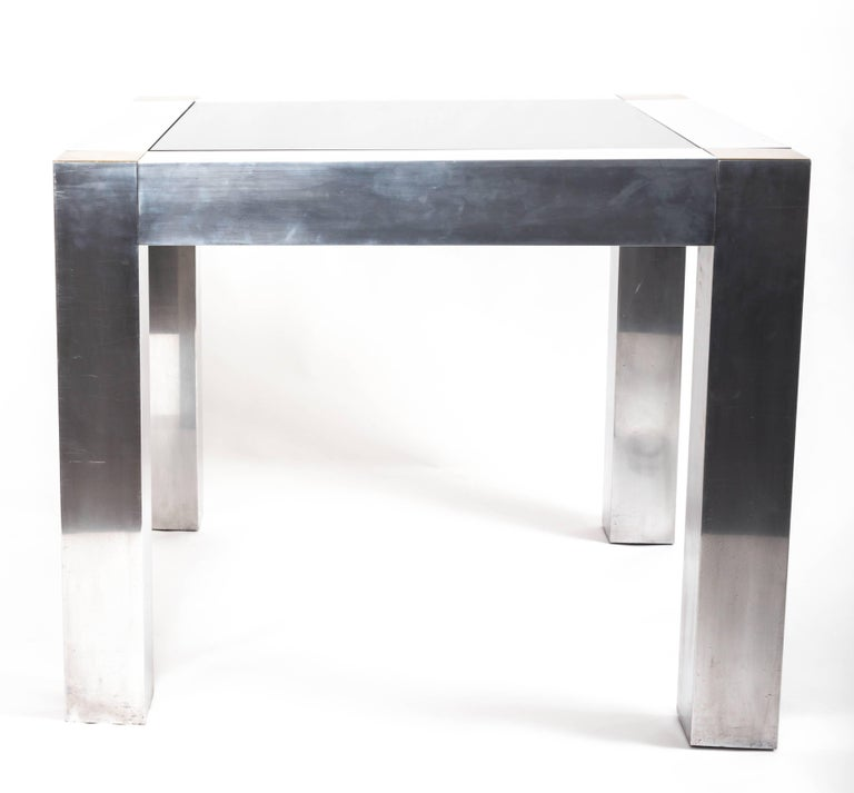 Paul Evans style Aluminum and Brass Parsons Table 9