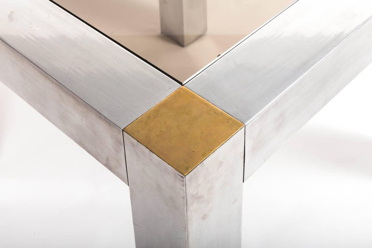 Paul Evans style Aluminum and Brass Parsons Table 5