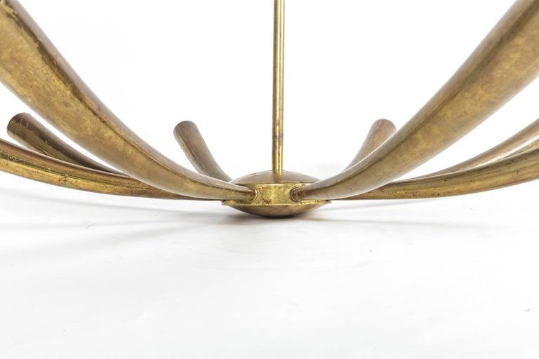 Italian Brass Chandelier For Sale 1