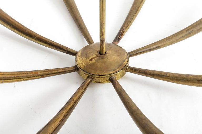 Italian Brass Chandelier For Sale 3