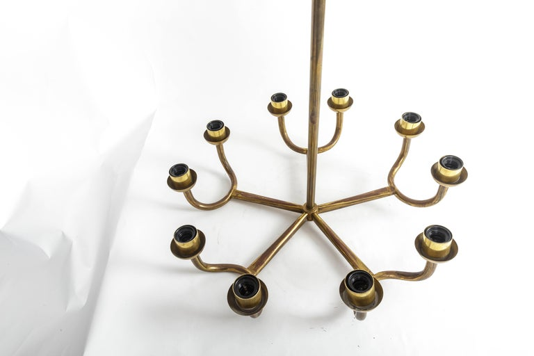 Italian Brass Chandelier For Sale 5