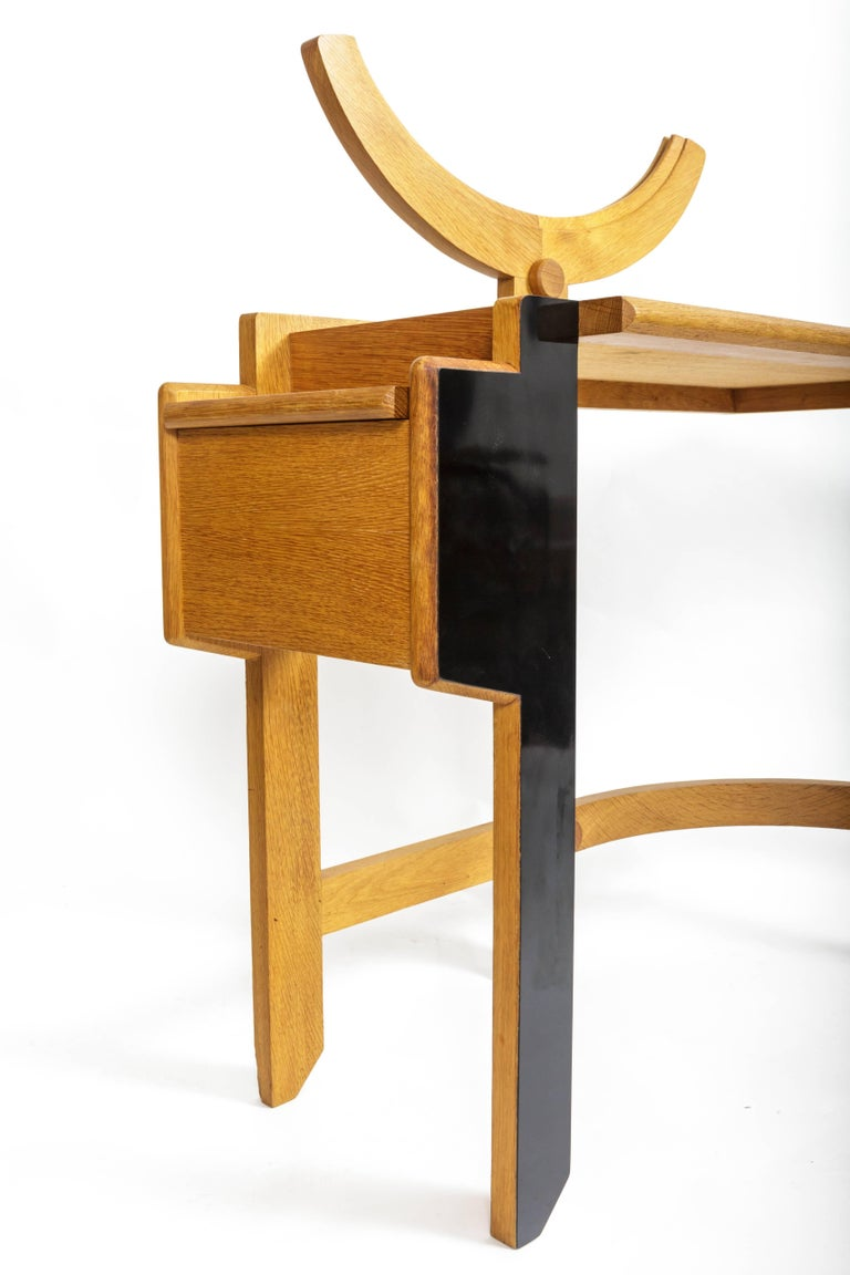 Oak Vanity Table by Guillerme et Chambron 6