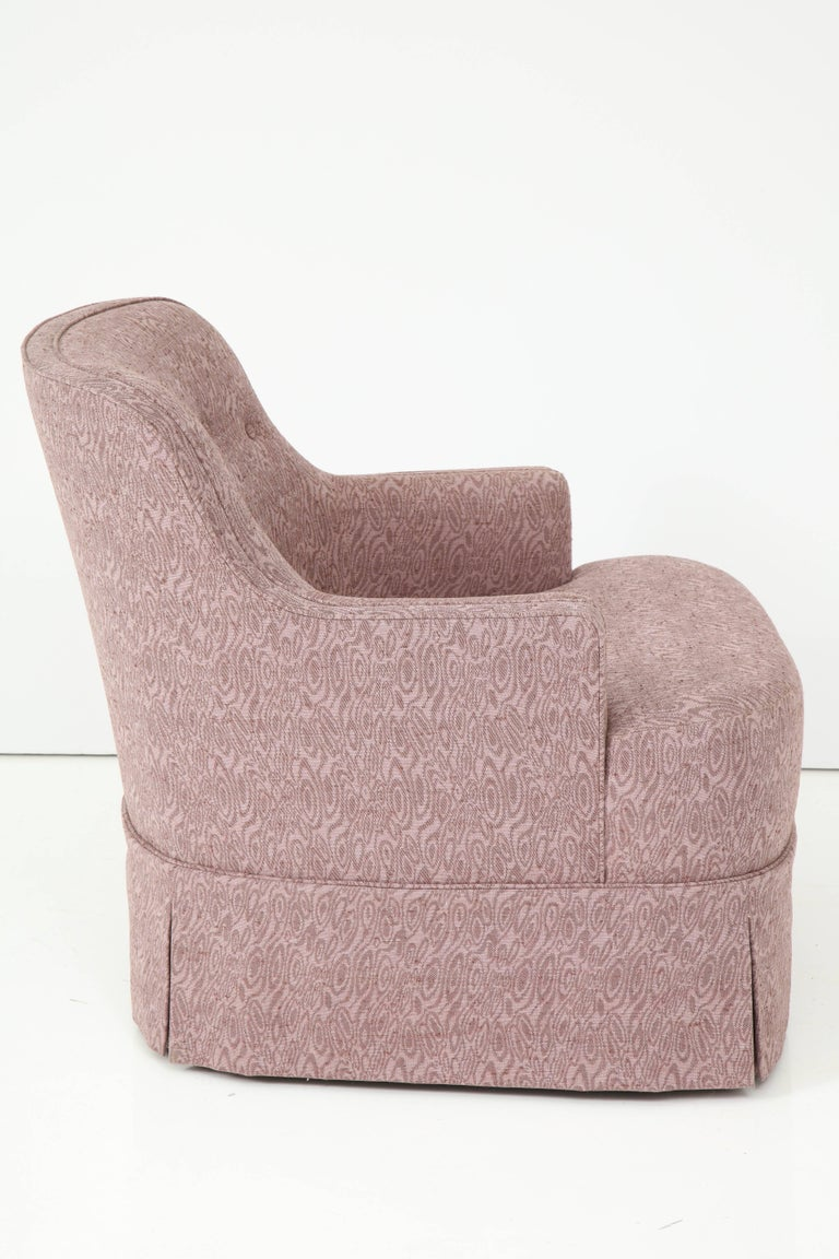 Mid-Century Modern Edward Wormley Smokey Amethyst Slipper Chairs For Sale