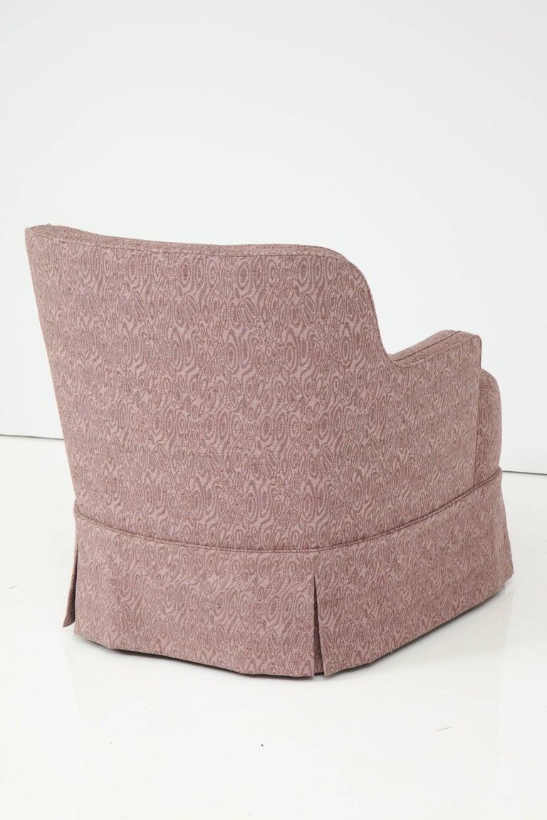 North American Edward Wormley Smokey Amethyst Slipper Chairs For Sale