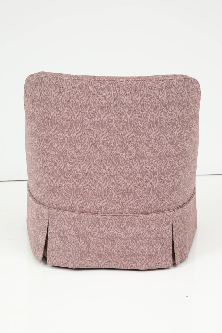 Edward Wormley Smokey Amethyst Slipper Chairs In Excellent Condition For Sale In New York, NY