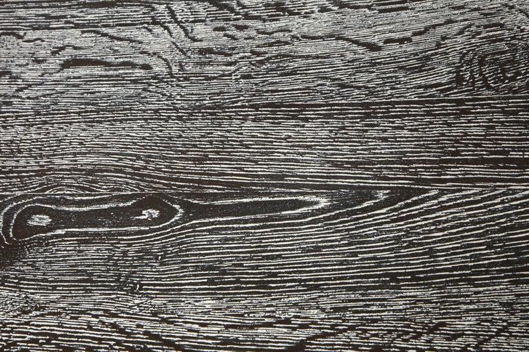 Modernist Cerused Oak Desk, France, 1950 For Sale 3