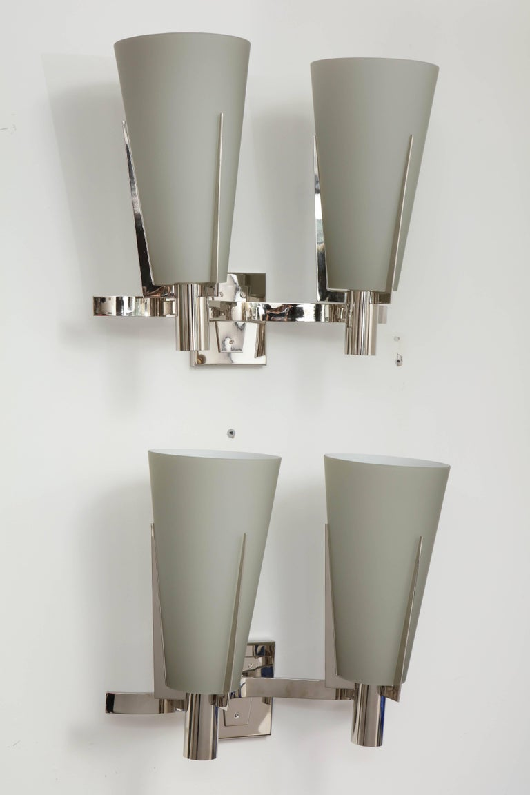 Wall Sconces Double : Pair of Italian Double-Arm Wall Sconces For Sale at 1stdibs