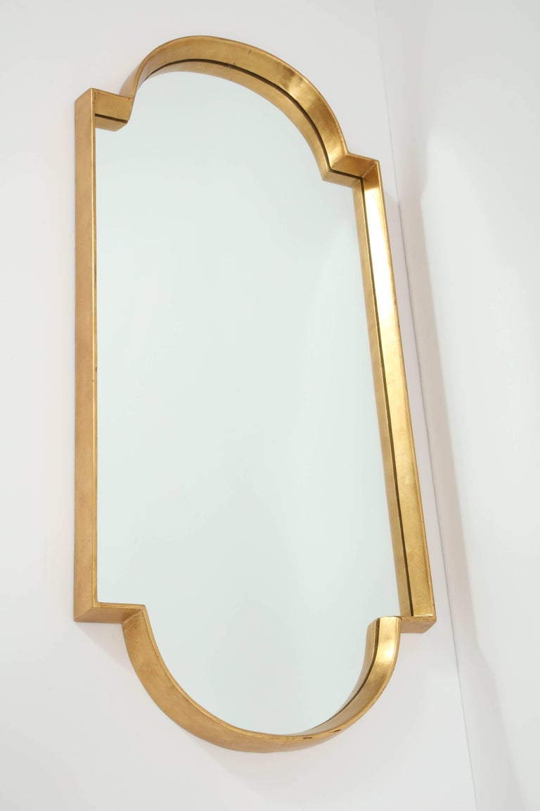 Hand-Crafted Mirrors, Pair of Gold Leaf For Sale