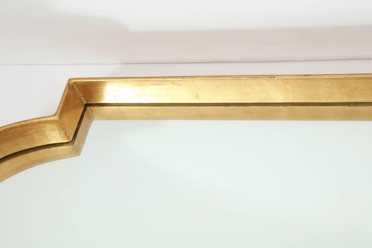 Contemporary Mirrors, Pair of Gold Leaf For Sale