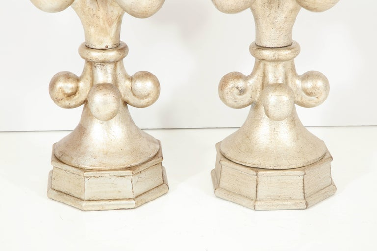 Spectacular Pair of Fleur-de-Lis Lamps by Marbro In Excellent Condition For Sale In New York, NY