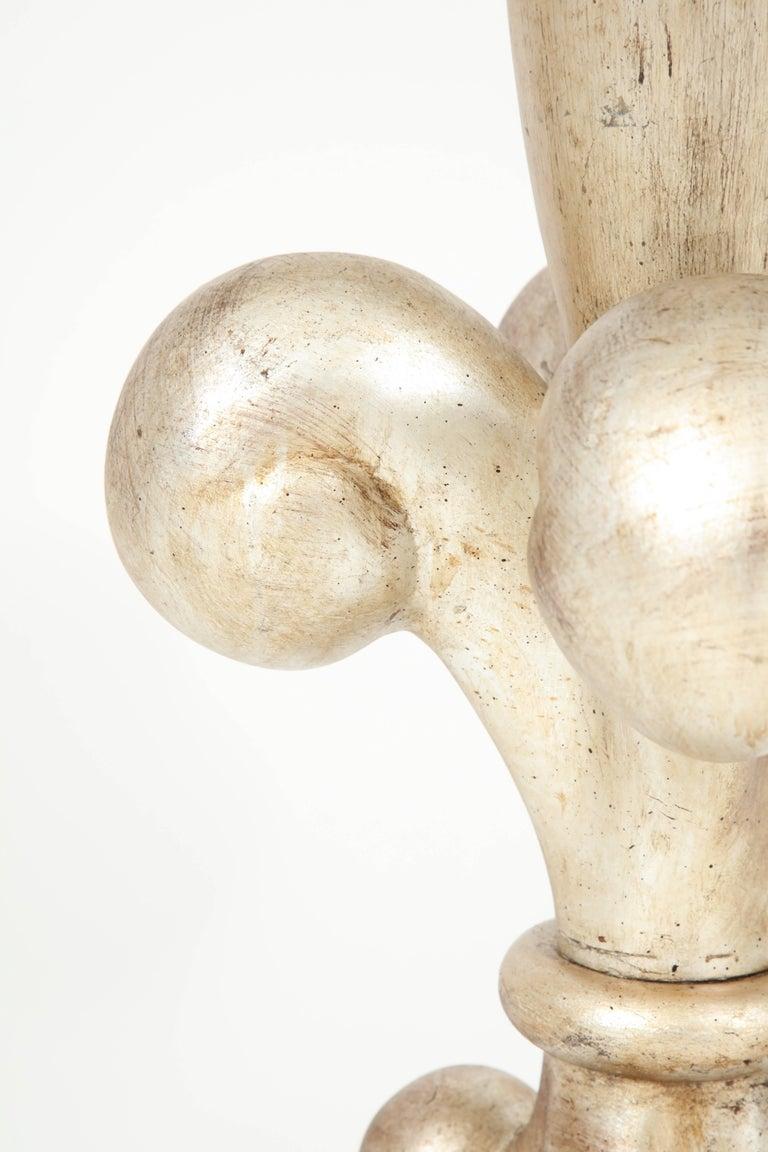 Spectacular Pair of Fleur-de-Lis Lamps by Marbro For Sale 3