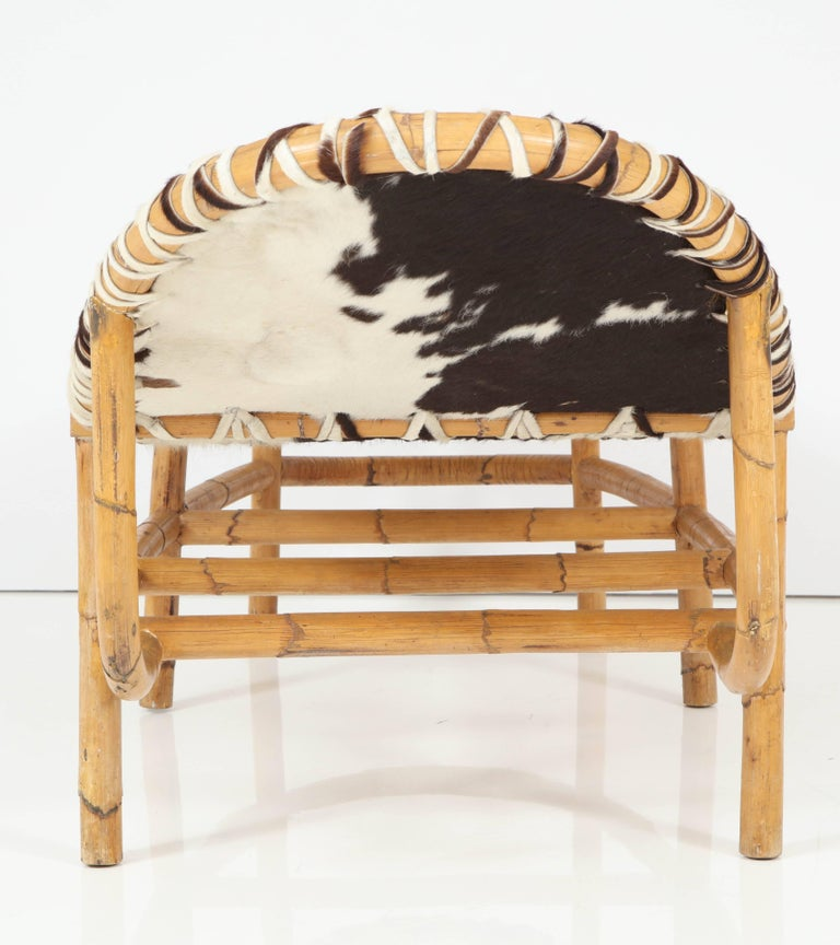 Bamboo and cowhide chaise longue for sale at 1stdibs for Chaise longue for sale