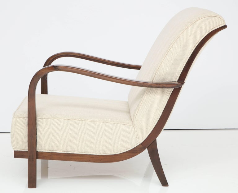 Pair of Italian Armchairs Attributed to Paolo Buffa For Sale 2