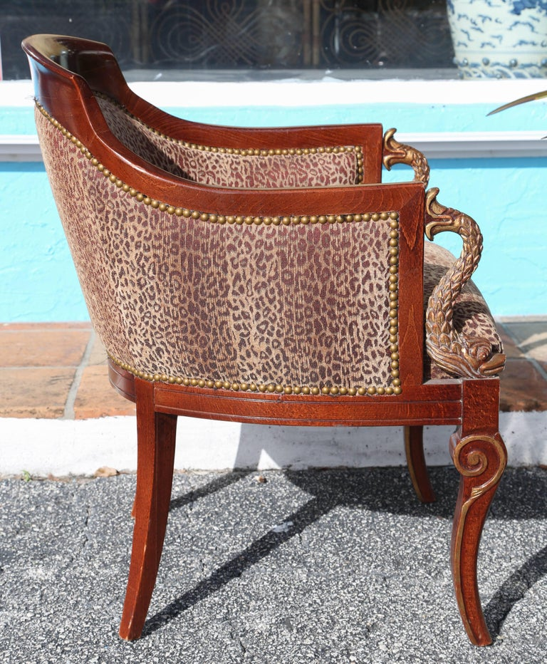 20th Century Pair of Hollywood Regency Tub Chairs For Sale